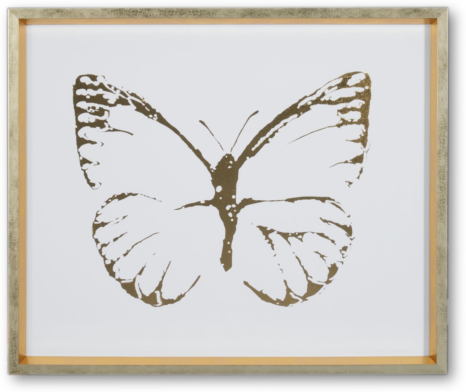 Home Accessories - Butterfly Wall Art - Blue/Gold