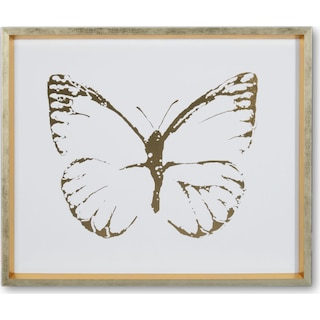 Butterfly Wall Art - Blue/Gold