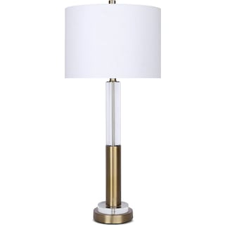 Crystal & Gold Table Lamp