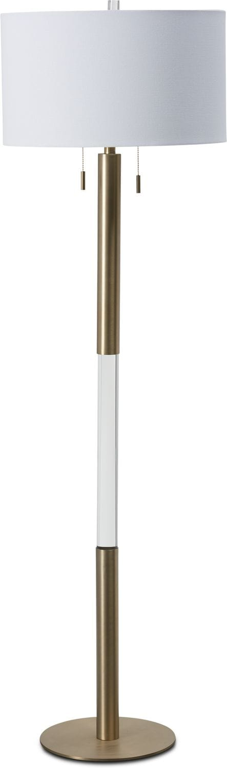 Home Accessories - Crystal & Gold Floor Lamp