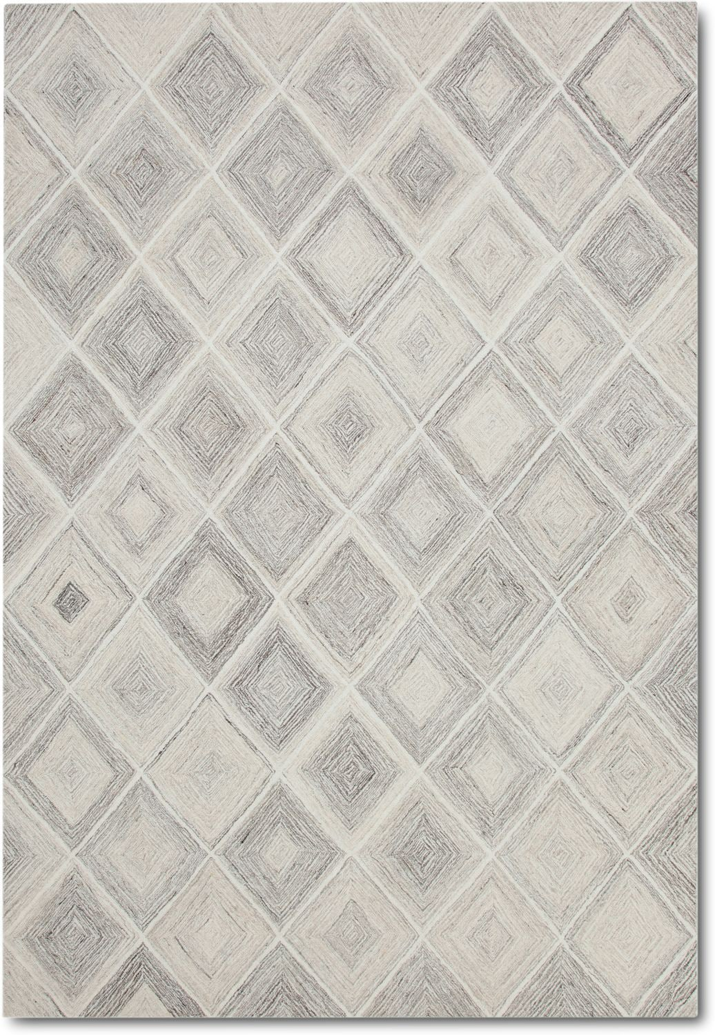 Rugs - Everest Area Rug - Ivory and Gray
