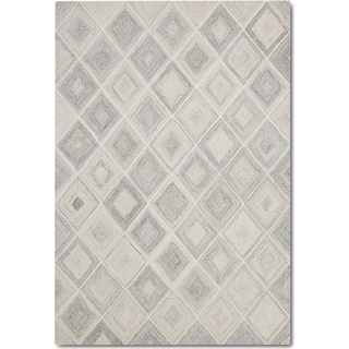 Everest Area Rug - Ivory/Gray