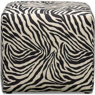 Nala Cube Ottoman - Zebra