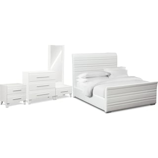 Allori 6-Piece Upholstered Bedroom Set with Chest