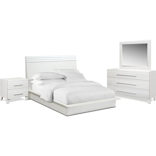 Allori 6-Piece Panel Bedroom Set