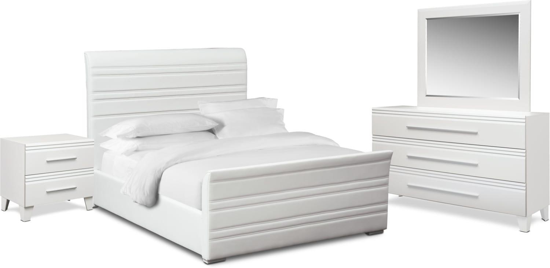 Bedroom Furniture - Allori 6-Piece Upholstered Bedroom Set