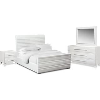 Allori 6-Piece Upholstered Bedroom Set