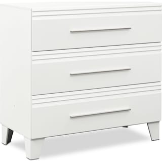 Allori Dresser, Mirror, and Chest Set - White