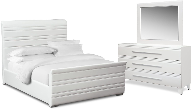 Bedroom Furniture - Allori 5-Piece Upholstered Bedroom Set