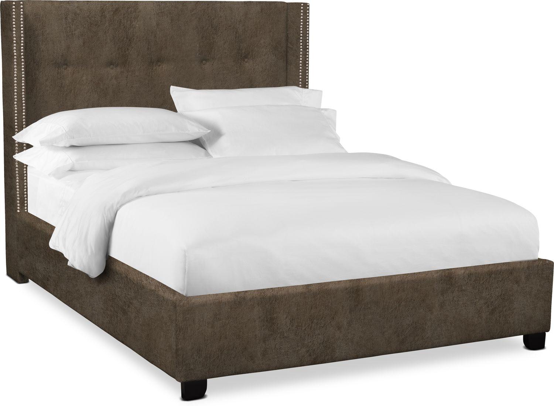 """Bedroom Furniture - Carter 56"""" Upholstered Shelter Bed"""
