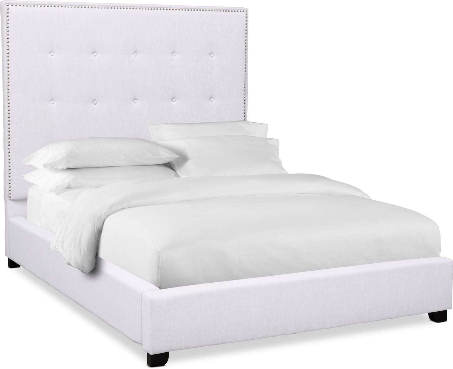 "Bedroom Furniture - Carter 68"" Upholstered Bed"