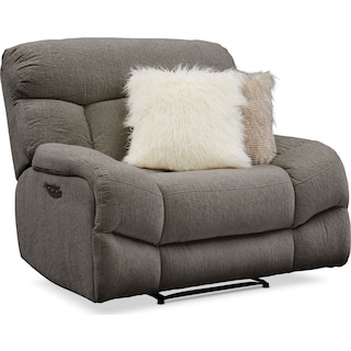 Wave Dual-Power Recliner - Ash