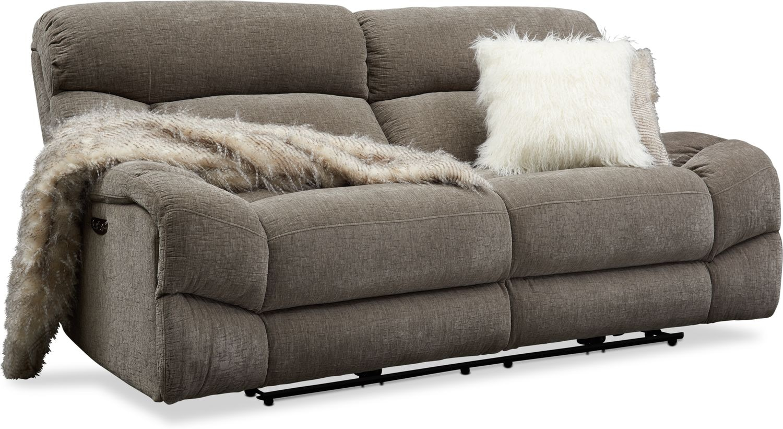 Living Room Furniture - Wave Dual-Power Reclining Sofa