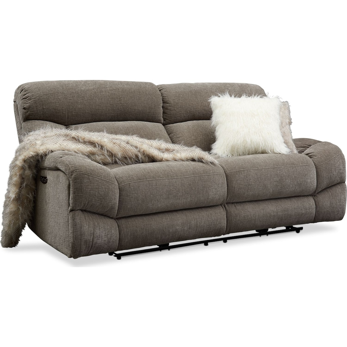 Wave Dual Power Reclining Sofa Loveseat And Recliner