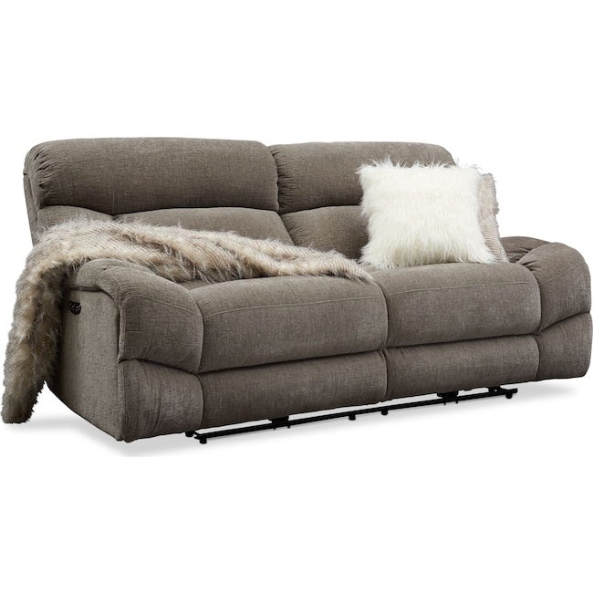 Marvelous Wave Dual Power Reclining Sofa Andrewgaddart Wooden Chair Designs For Living Room Andrewgaddartcom