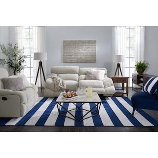 Wave Dual Power Reclining Sofa