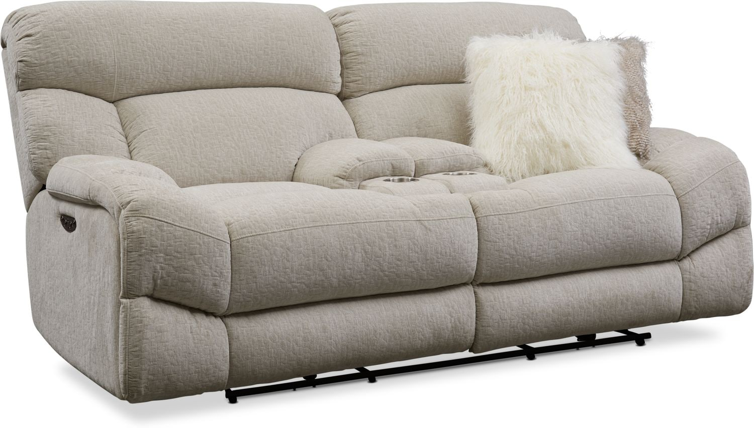 Living Room Furniture - Wave Dual-Power Reclining Loveseat