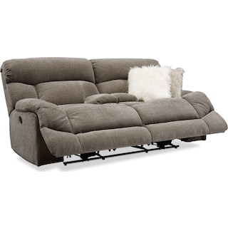 Wave Manual Reclining Loveseat - Ash