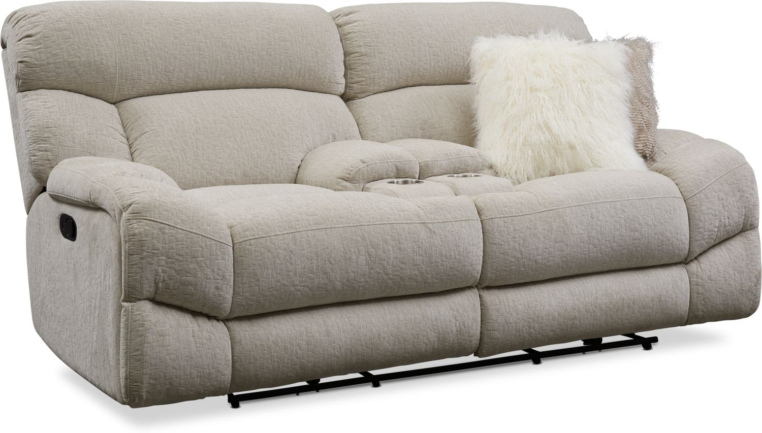 Living Room Furniture - Wave Manual Reclining Loveseat