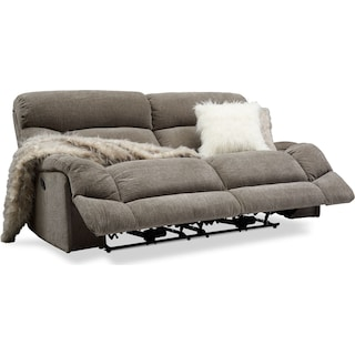 Wave Manual Reclining Sofa - Ash