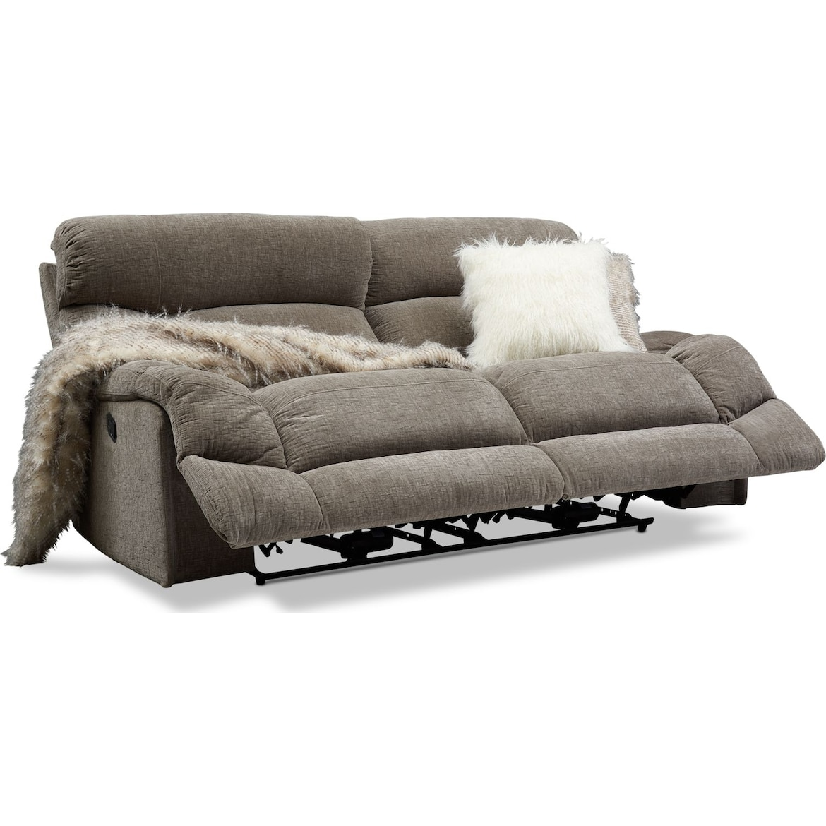 Wave Manual Reclining Sofa Value City Furniture And Mattresses