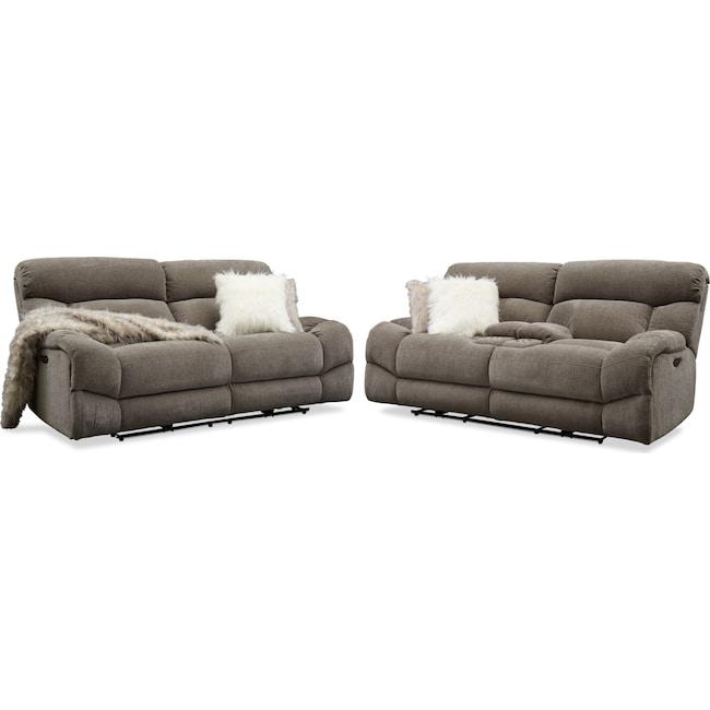 Strange Wave Dual Power Reclining Sofa And Loveseat Set Inzonedesignstudio Interior Chair Design Inzonedesignstudiocom
