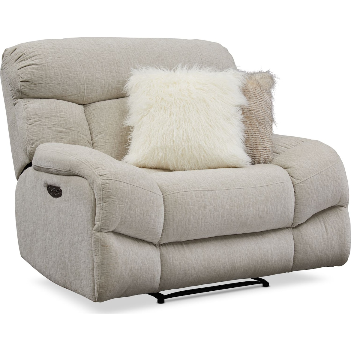 Wave Dual Power Reclining Sofa And Loveseat Set Value
