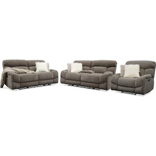 Wave Dual-Power Reclining Sofa, Loveseat and Recliner