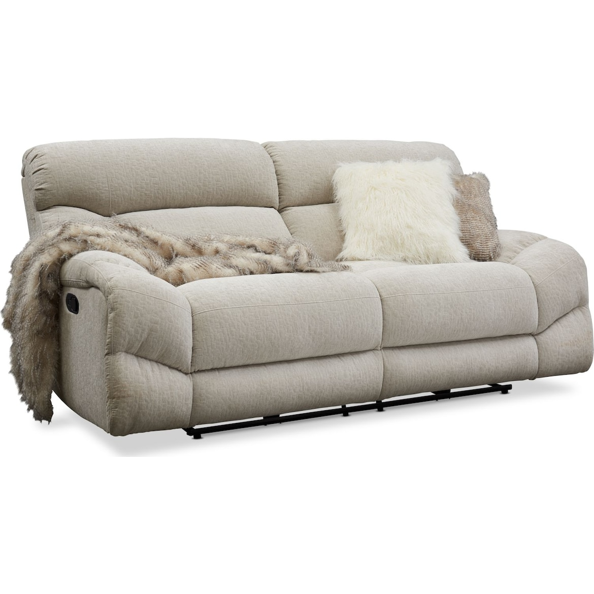 Wave Manual Reclining Sofa Loveseat And Recliner Value