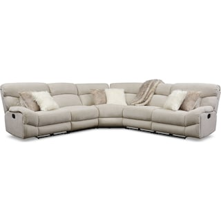 Wave 5-Piece Manual Reclining Sectional