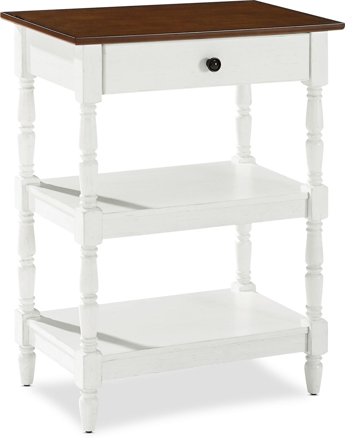 Accent and Occasional Furniture - Sienna Accent Table - White