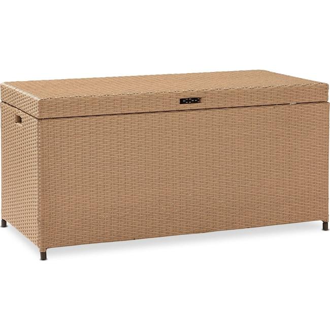 Outdoor Furniture - Aldo Storage Bin - Light Brown