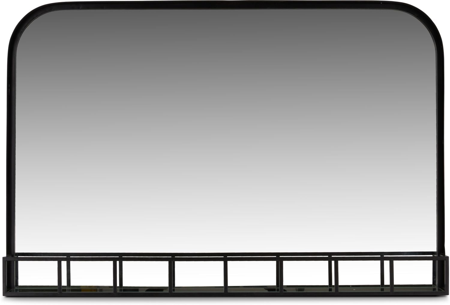 Home Accessories - Mirror with Metal Shelf