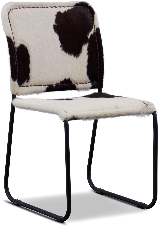 Avalon Cowhide Side Chair