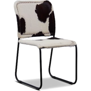 Avalon Cowhide Side Chair