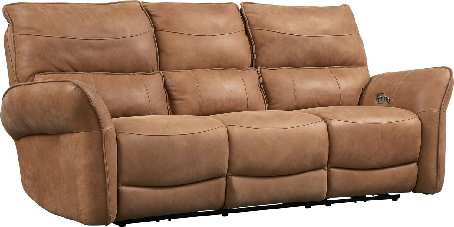 Living Room Furniture - Aspen Dual-Power Reclining Sofa