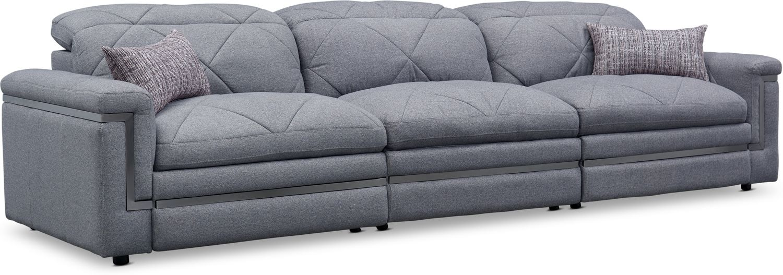 Living Room Furniture - Revel 3-Piece Dual-Power Reclining Sofa