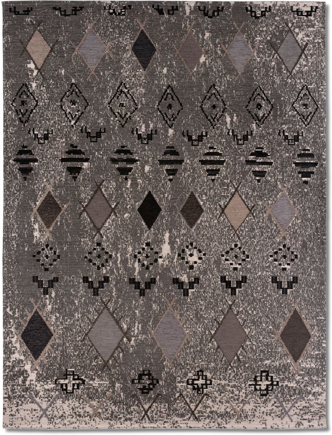 Rugs - Woven Area Rug - Tribal Gray