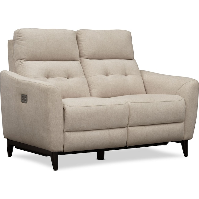Living Room Furniture - Hayes Dual-Power Reclining Loveseat