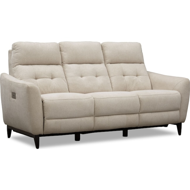 Living Room Furniture - Hayes Dual-Power Reclining Sofa