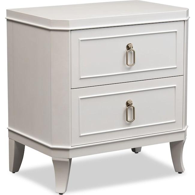 Bedroom Furniture - Isabel Nightstand - Alabaster