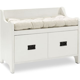 Landon Entryway Bench - White