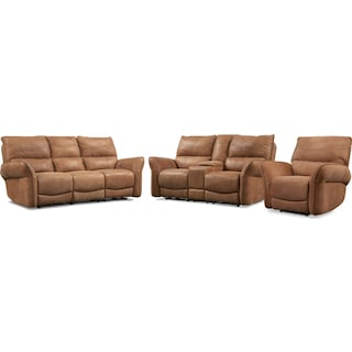 Aspen Dual-Power Reclining Sofa, Loveseat and Recliner