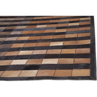 Geo Hide Area Rug - Brown