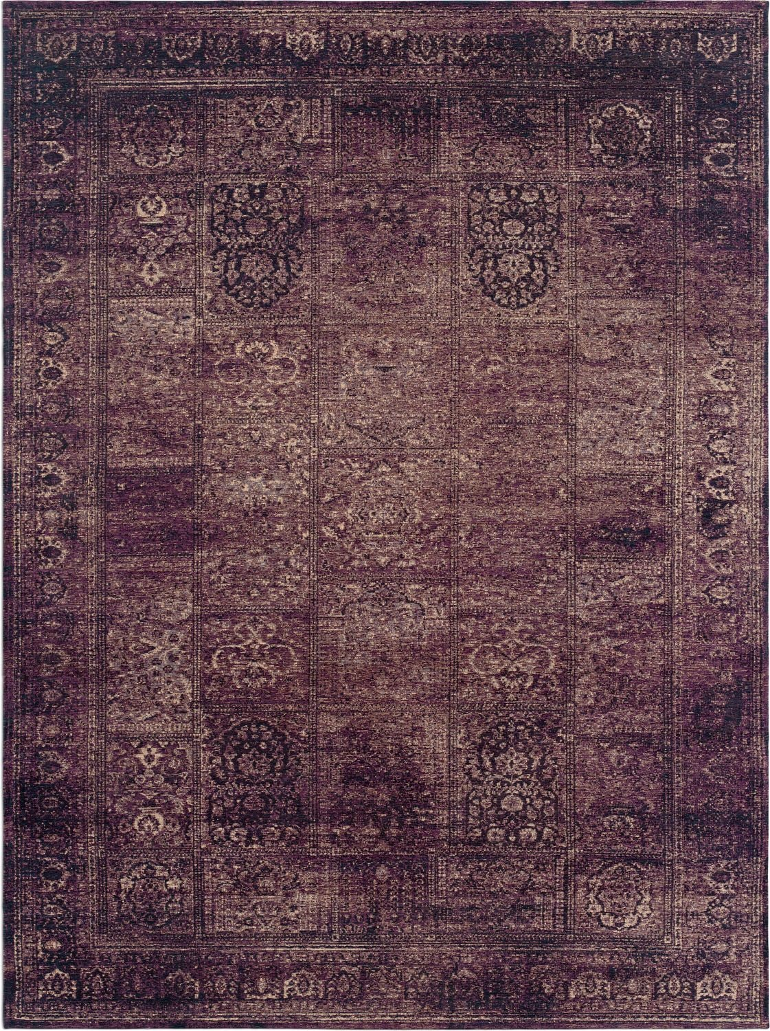 Rugs - Flat Woven Area Rug - Purple