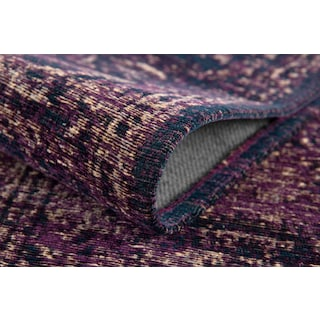 Flat Woven Area Rug - Purple