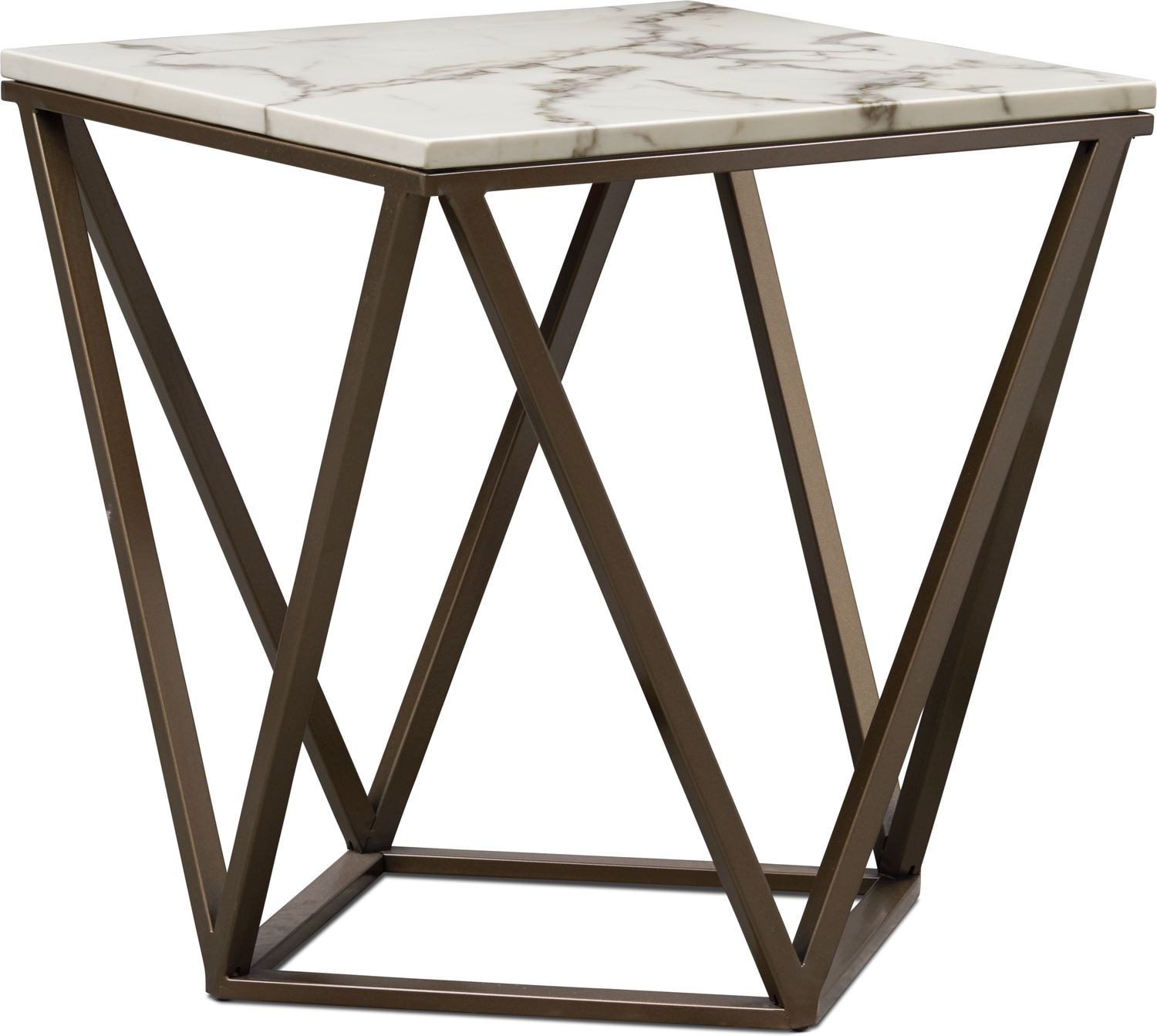 Accent and Occasional Furniture - Emma Marble End Table