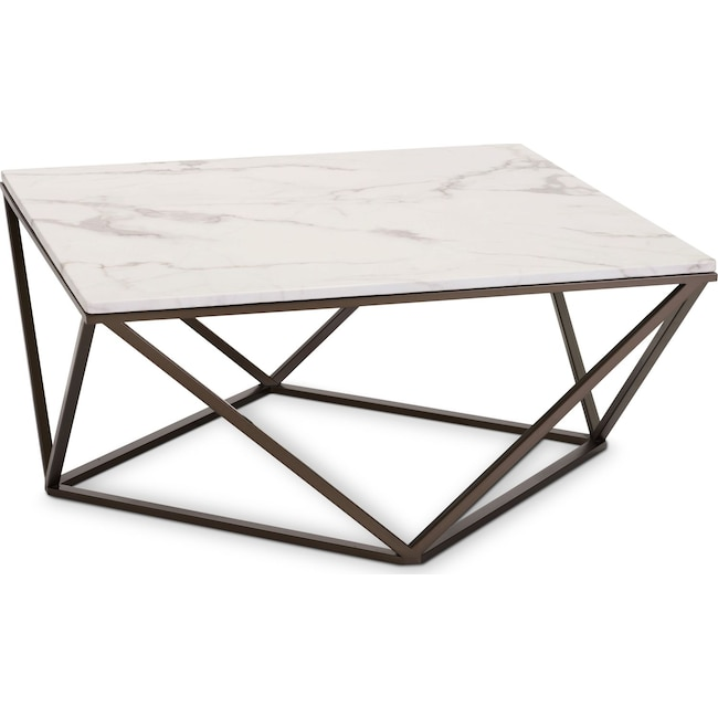 Emma Marble Coffee Table Value City Furniture And Mattresses