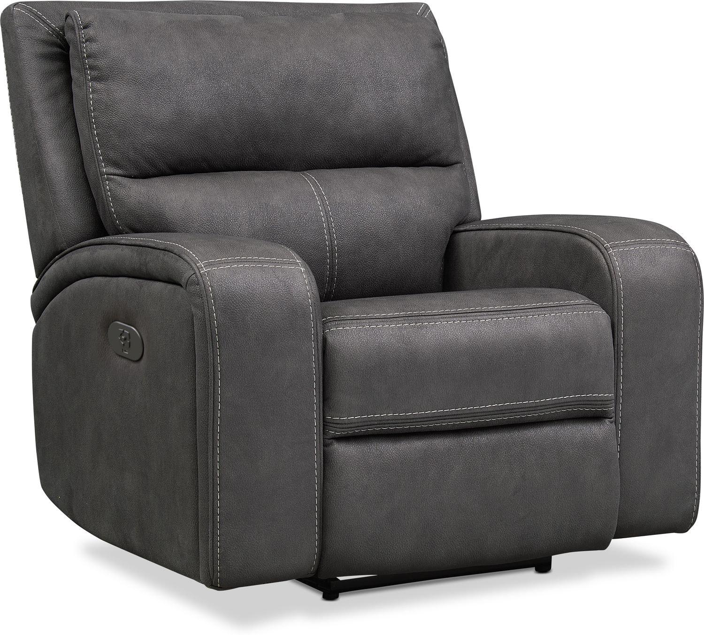 Living Room Furniture - Burke Dual-Power Recliner