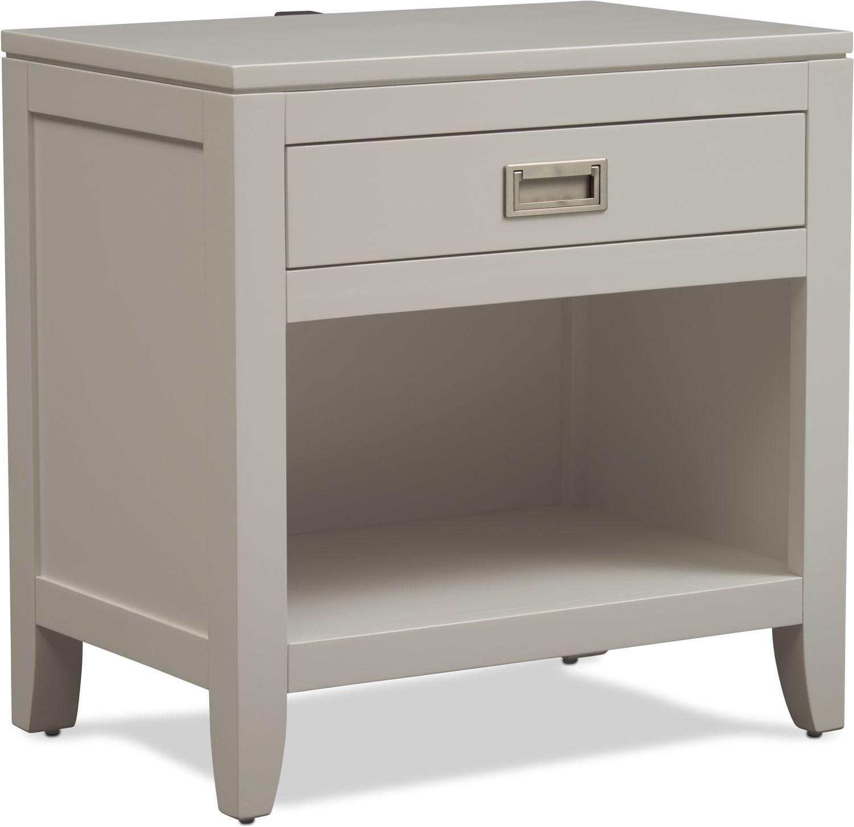 Bedroom Furniture - Emerson Nightstand - Gray